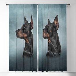 Drawing Doberman dog  6 Blackout Curtain