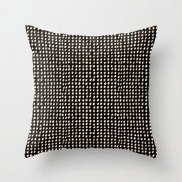 Dots (Shadowed) - White x Citrus Throw Pillow