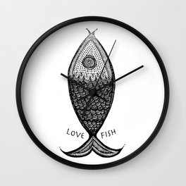 LoveFish Wall Clock