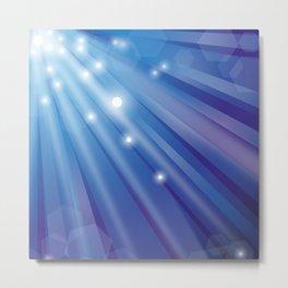 blue background Metal Print