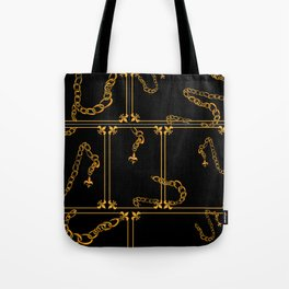 Unchained: Gold + Black Tote Bag