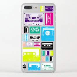 Mix Tapes Clear iPhone Case