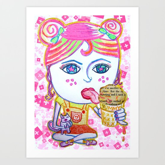 LeeLoo the Icecream Thief Art Print