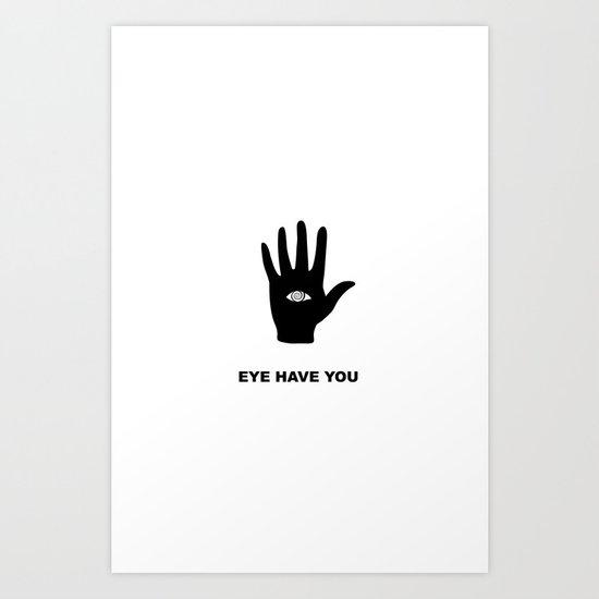 eye hand Art Print