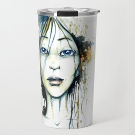 Aqua blue orange  Travel Mug