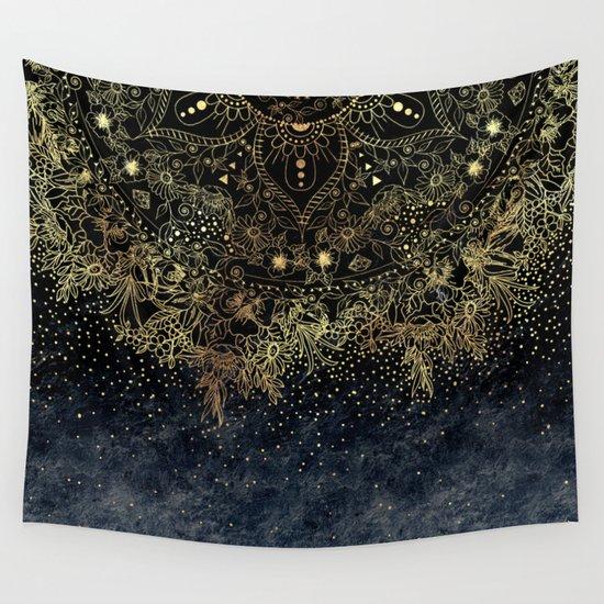 Stylish Gold floral mandala and confetti by inovarts