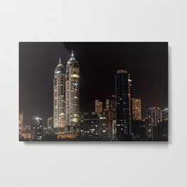 Mumbai India Skyline Metal Print