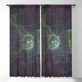 Geometric Cosmic Light 87 Blackout Curtain
