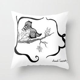 Strange Bird 2 Throw Pillow