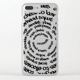 Crossfit Spiral Clear iPhone Case