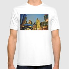 Chicago Bean Mens Fitted Tee White MEDIUM