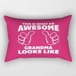 Awesome Grandma Funny Quote Rectangular Pillow