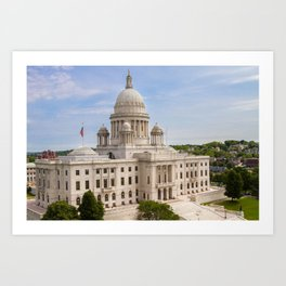 State House Capital Building of Providence, Rhode Island Art Print