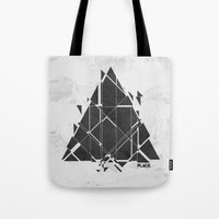 carnage Tote Bags featuring PLACE Triangle V2 by Sitchko Igor