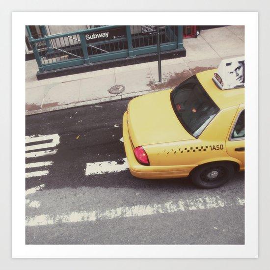 one way taxi:: nyc Art Print