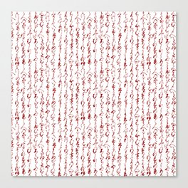 Ancient Japanese Calligraphy // Dark Red Canvas Print