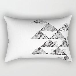 botanical triangles Rectangular Pillow
