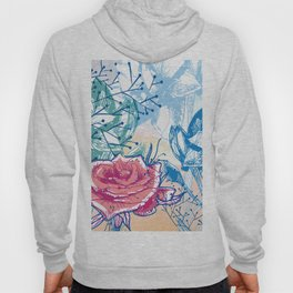 Blossoming rose Hoody