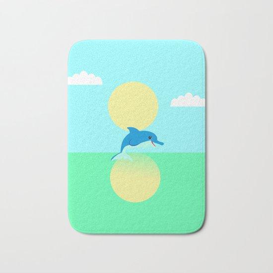 Dolphin - minimal Bath Mat