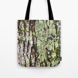 Tree Bark Lichen Tote Bag