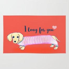 Valentine's Day dachshund dog Rug