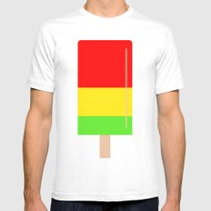 Popsicle colorful design MEDIUM White Mens Fitted Tee
