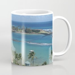 Beach at Caribe Hilton, San Juan, Puerto Rico, before Maria Coffee Mug