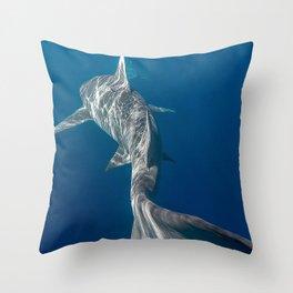 Peaceful Lemon Shark Throw Pillow