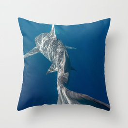 Peaceful Lemon Shark Throw Pillow