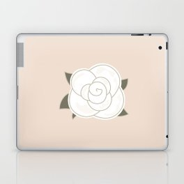 White vintage rose. Vector Illustration Laptop & iPad Skin