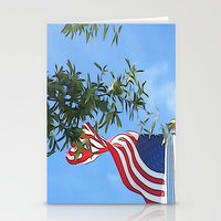 american flag Stationery Cards featuring American Flag  by KCavender Designs