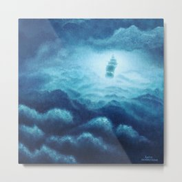 Cloudy Seas Metal Print