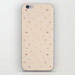 Southwestern Symbolic Pattern in Coral & Cream iPhone Skin
