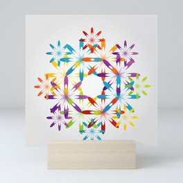 A large Colorful Christmas snowflake pattern- holiday season gifts- Happy new year gifts Mini Art Print
