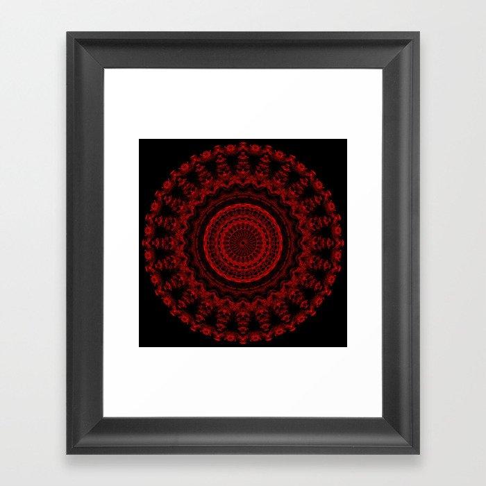 Snowflake #004 solid Framed Art Print