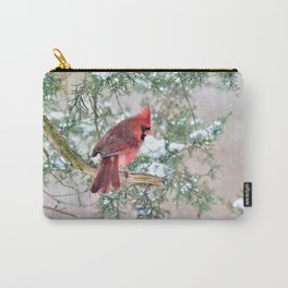 Snow Day Cardinal Carry-All Pouch