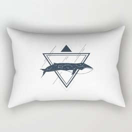 Cosmic Whale. Geometric Style Rectangular Pillow