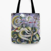 ursula Tote Bags featuring Ursula by Jena Sinclair