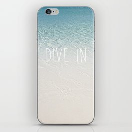 Dive in iPhone Skin