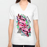 make up V-neck T-shirts featuring Make up by DIVIDUS
