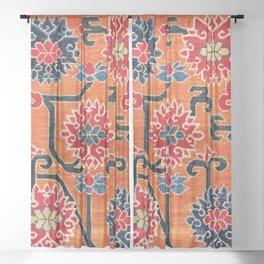 Shigatse South Tibetan Jabuye Rug Print Sheer Curtain