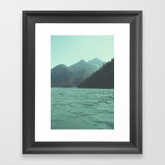 Desolation is beyond the horizon - Diablo Lake Framed Art Print