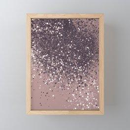 Sparkling Mauve Lady Glitter #3 #shiny #decor #art #society6 Framed Mini Art Print