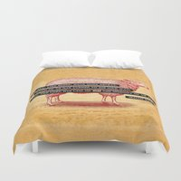 scripture Duvet Covers featuring Like Sheep by Peter Gross