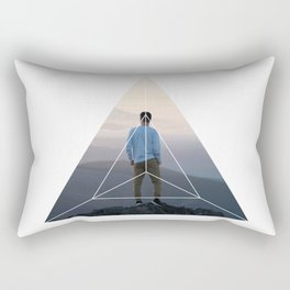 Top of the World Boy - Geometric Photography Rectangular Pillow