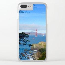 Golden Gate Bridge San Fran Clear iPhone Case