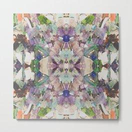 Beautifully Broken | Abstract Glass Art Metal Print