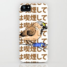 this bird is smoking iPhone Case