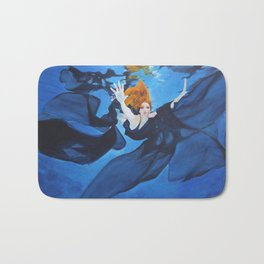 Escape Under Blue Bath Mat