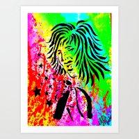 Rocker Chic Art Print